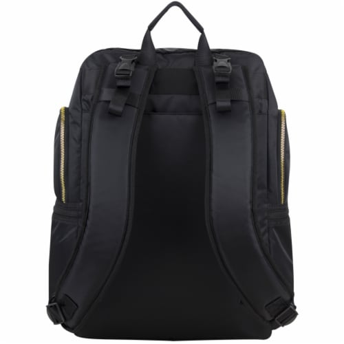 Bodhi Baby Lafayette Street Diaper Backpack - Black Perspective: back