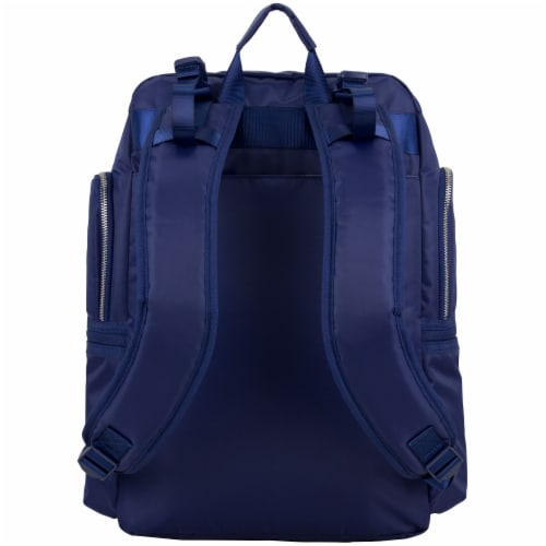 Bodhi Baby Lafayette Street Diaper Backpack - Deep Cobalt Perspective: back