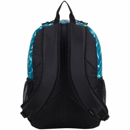 Fuel Triple Decker Backpack - Brush Stroke Aqua/White Perspective: back