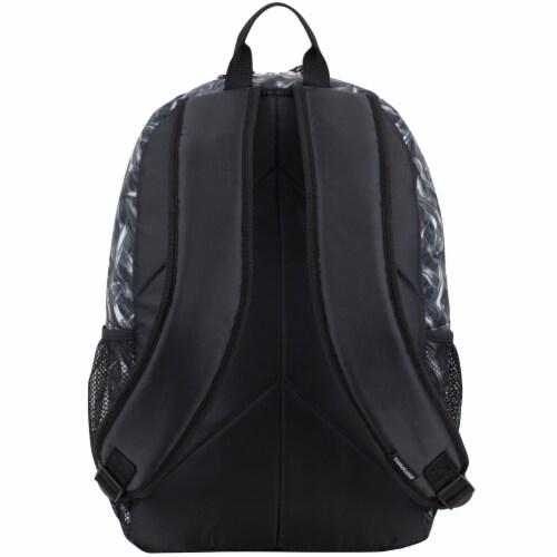 Fuel Triple Decker Backpack - Black/White/Lavender Perspective: back