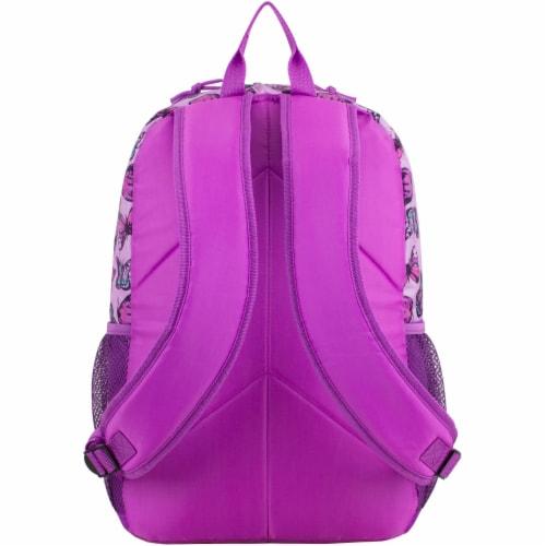 Fuel Colorful Butterflies Triple Decker Backpack Perspective: back