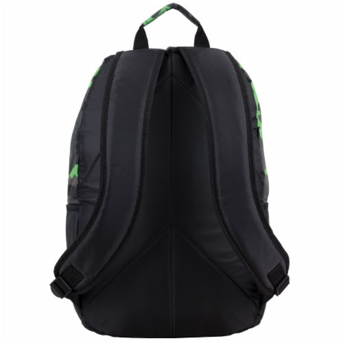 Fuel Deluxe Backpack/Lunch Bag Combo - Green/Black Perspective: back