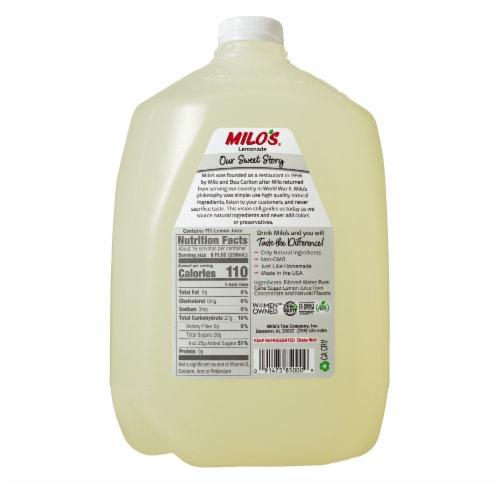 Milo's All Natural Lemonade Perspective: back