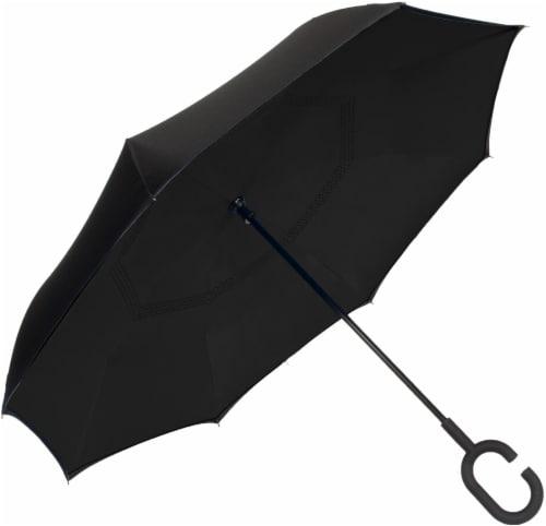 ShedRain Reverse Stick Manual Umbrella - Black Perspective: back