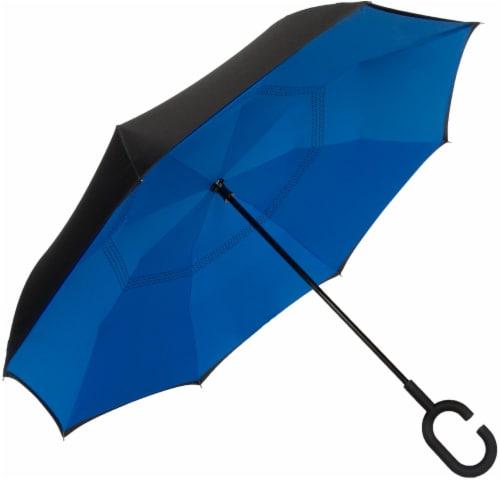 ShedRain Reverse Stick Manual Umbrella - Ocean Perspective: back