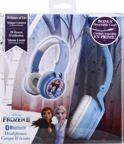 Ekids Frozen Bluetooth Headphones - Blue Perspective: back
