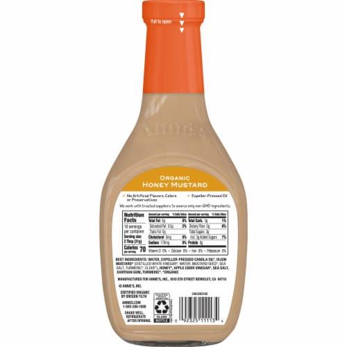 Annie's Organic Honey Mustard Vinaigrette Perspective: back