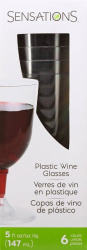 Sensations Wine Glass - Clear Perspective: back