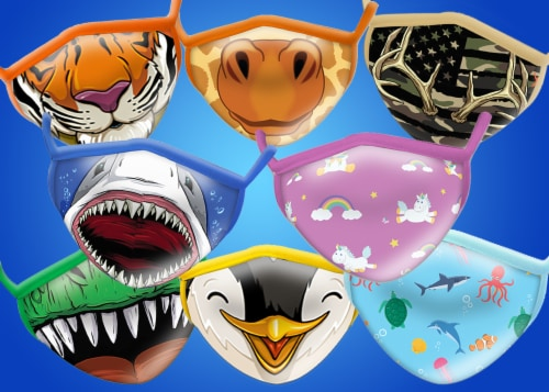 Wild Republic Smiles Assorted Youth Masks Perspective: back