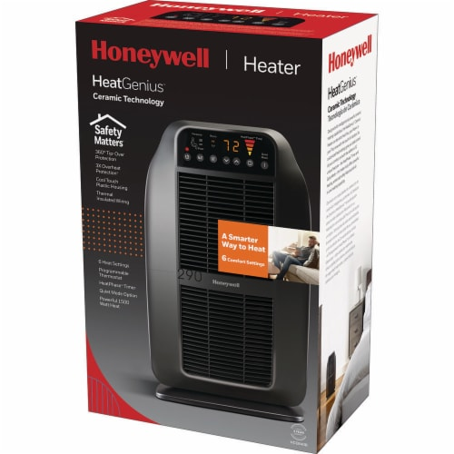 Honeywell Heatgenius Heater - Black Perspective: back