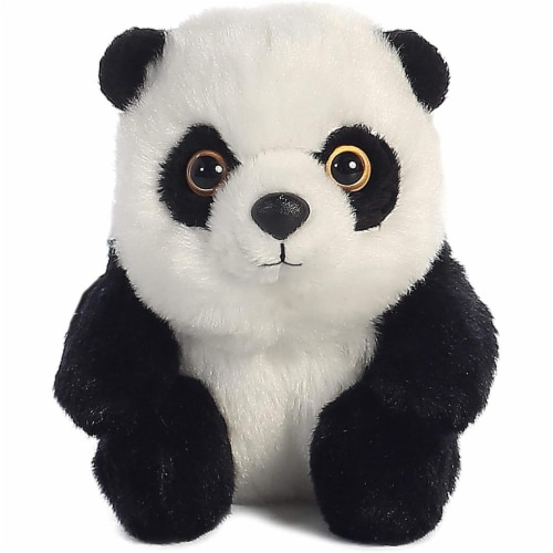 "Aurora 5"" Plush Stuffed Animal - Lin Lin Panda Perspective: back"