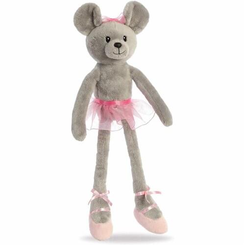 "Aurora - Easter Item - 14"" April Ballerina Mouse Plush Perspective: back"