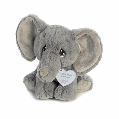 Tuk Elephant 8 inch - Baby Stuffed Animal by Precious Moments (15704) Perspective: back