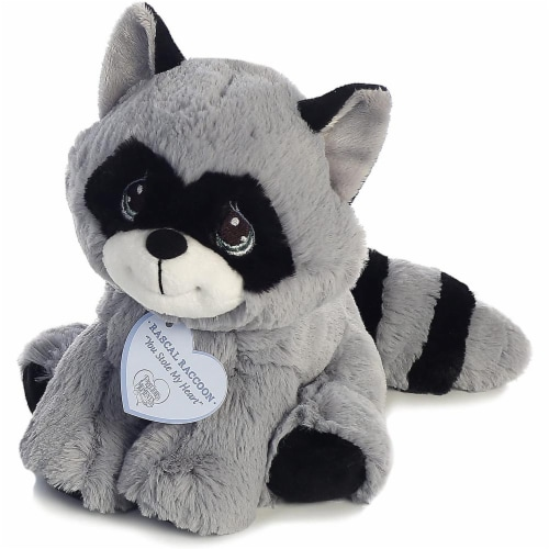 Rascal Raccoon 8 inch - Baby Stuffed Animal by Precious Moments (15705) Perspective: back