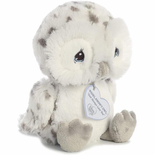 Nigel Snow Owl 8 inch - Baby Stuffed Animal by Precious Moments (15712) Perspective: back