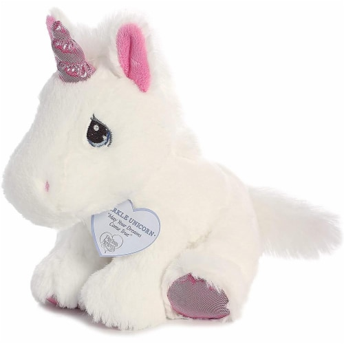 Sparkle Unicorn 8 inch - Baby Stuffed Animal by Precious Moments (15713) Perspective: back