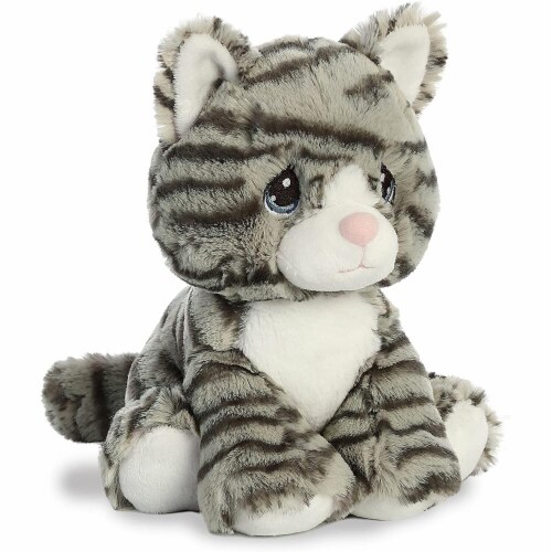 Aurora World Precious Moments Plush Toy, Gray Stiped Cat Perspective: back