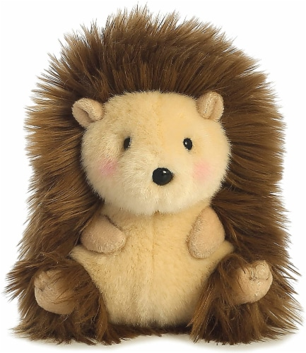 Merry Hedgehog Rolly Pet 5 inch - Stuffed Animal by Aurora Plush (16812) Perspective: back