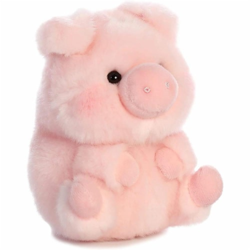 Aurora World Rolly Pet Prankster Pig Plush Perspective: back