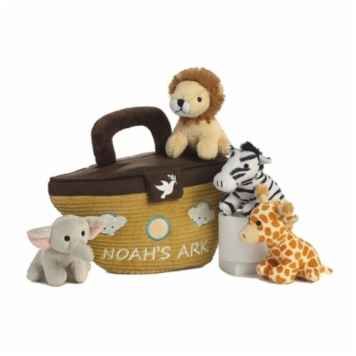 Noah's Ark Plush Playset for Baby by Aurora - 20808 Perspective: back
