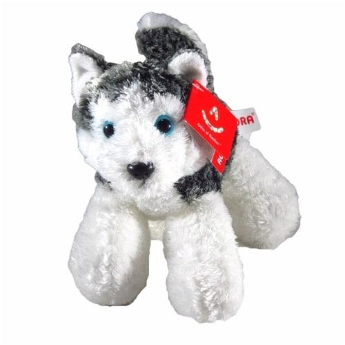 "Aurora Mush HUSKY 8"" Flopsie Plush Siberian Alaskan Dog Stuffed Animal Perspective: back"