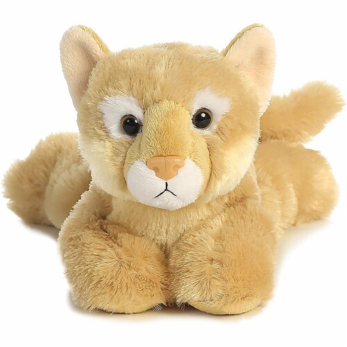 "Cougar 12"" Flopsie Stuffed Animal by Aurora Perspective: back"