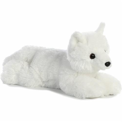 """Aurora World Flopsie Toy Arctic Fox Plush, 12"""" Perspective: back"""
