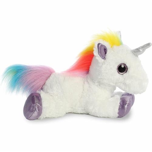 """Aurora World Rainbow Unicorn Flopsie, 12"""" Perspective: back"""