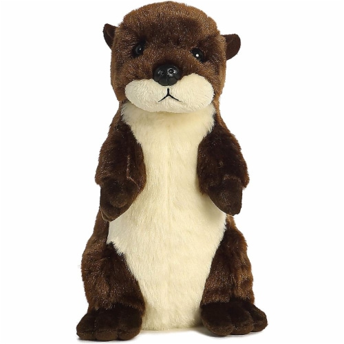 """River Otter Mini Flopsie 8"""" by Aurora Perspective: back"""