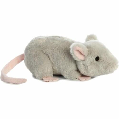 "Aurora 31731 Mouse Stuffed Animal Plush Toy, 8"", Grey Perspective: back"