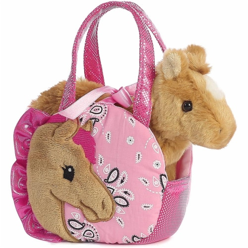 """Pretty Pony Fancy Pal Pet Carrier 8"""" Plush by Aurora - 32766 Perspective: back"""