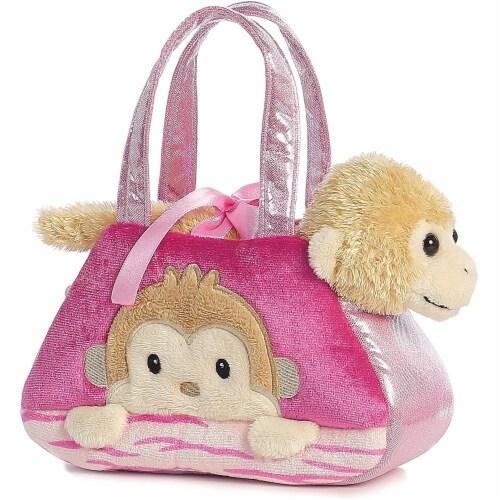 Fancy Pals Peek-A-Boo Monkey 7 Inch Pet Carrier Perspective: back