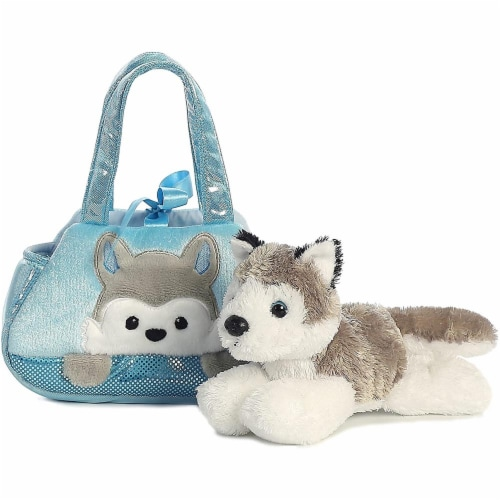 Peek-A-Boo Husky Stuffed Animal Purse by Aurora Perspective: back