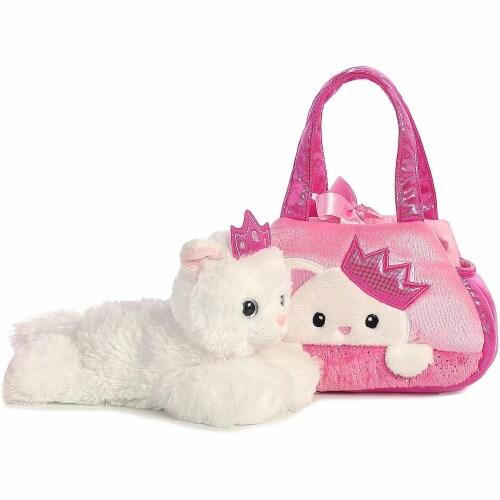 Peek-A-Boo Princess Kitty Stuffed Animal Purse by Aurora Perspective: back
