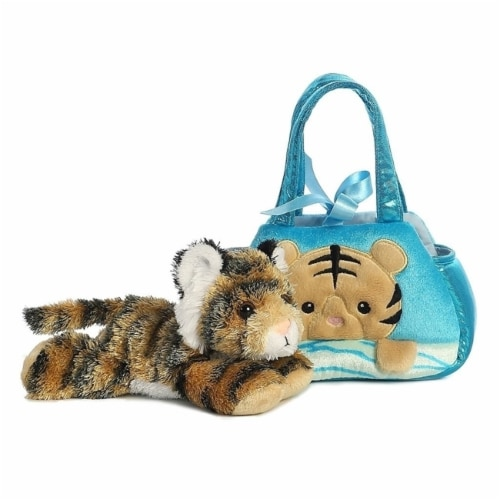 Fancy Pals Peek-A-Boo Bengal Tiger 7 Inch Pet Carrier Perspective: back