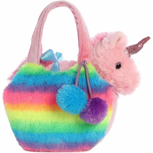 Aurora World Fancy Pals Pet Unicorn Carrier Plush, Rainbow Perspective: back