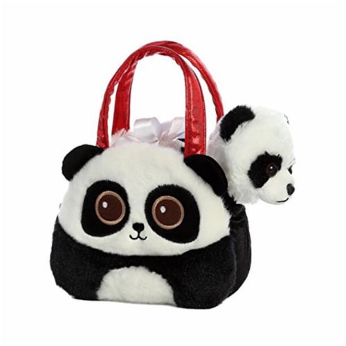 Aurora World Fancy Pals Pet Carrier Bright Eyes Panda Plush Perspective: back