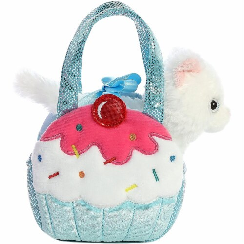 Aurora World Fancy Pals Pet Carrier Sweets Cupcake & Kitty Plush Perspective: back