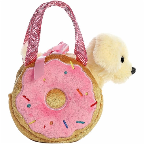 Aurora World Fancy Pals Pet Carrier Yummy Donut & Puppy Plush Perspective: back