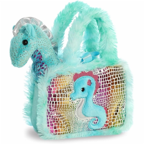 Aurora World Pet Carrier Plush Toy Animal, Fancy Pals Seahorse Perspective: back
