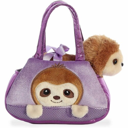 "Aurora - Pet Carrier - 7"" Peek-A-Boo Plush Sloth Perspective: back"