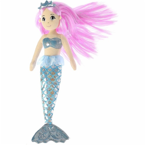 Crystal Mermaid Plush Doll by Aurora Perspective: back