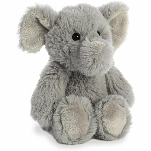 Aurora Elephant Plush, Grey Perspective: back