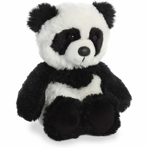 Aurora Panda Plush, White/Black Perspective: back