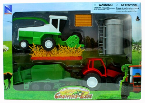 Country Life Harvester Farming Playset Perspective: back