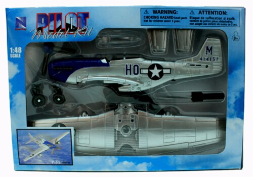 Sky Pilot Classic Plane Model Kit (1:48 Scale), P-51D Mustang Perspective: back