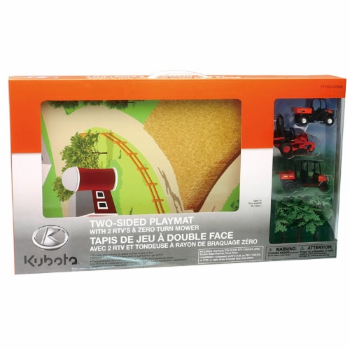 Kubota Landscape Play Set with Play Mat Perspective: back