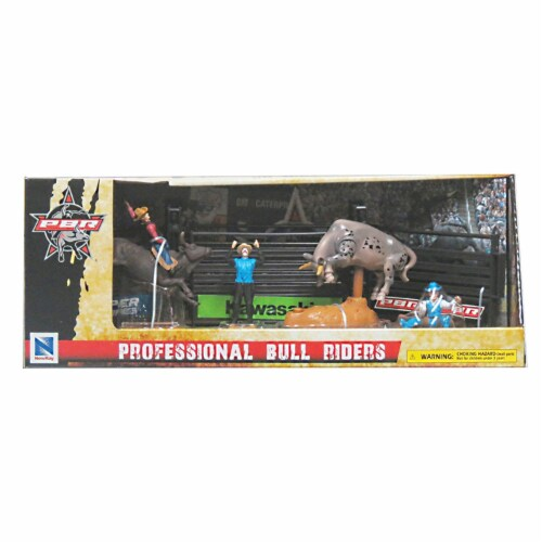 PBR Bull Riding Playset with Gate, Grey Perspective: back