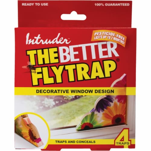Intruder The Better Flytrap Disposable Indoor Fly Trap (4-Pack) 21080 Perspective: back