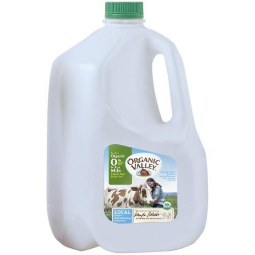 Organic Valley Fat Free Skim Milk Perspective: back
